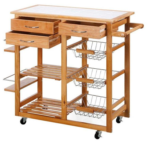 Ovela: Sanibel Wooden Kitchen Trolley