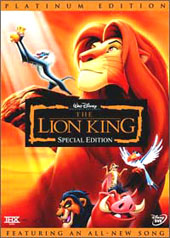 The Lion King Special Edition (2 Disc Set) on DVD