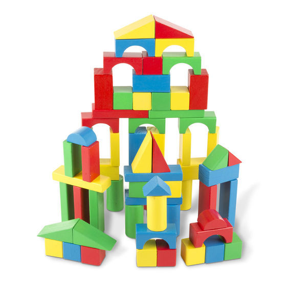 Melissa & Doug: 100pc Wood Blocks Set