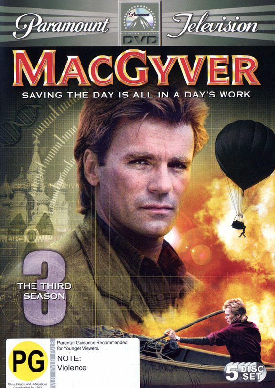 MacGyver - Complete Season 3 (5 Disc Set) on DVD