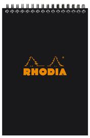 Rhodia Classic A5 Black Wireb Pad - Dot Grid