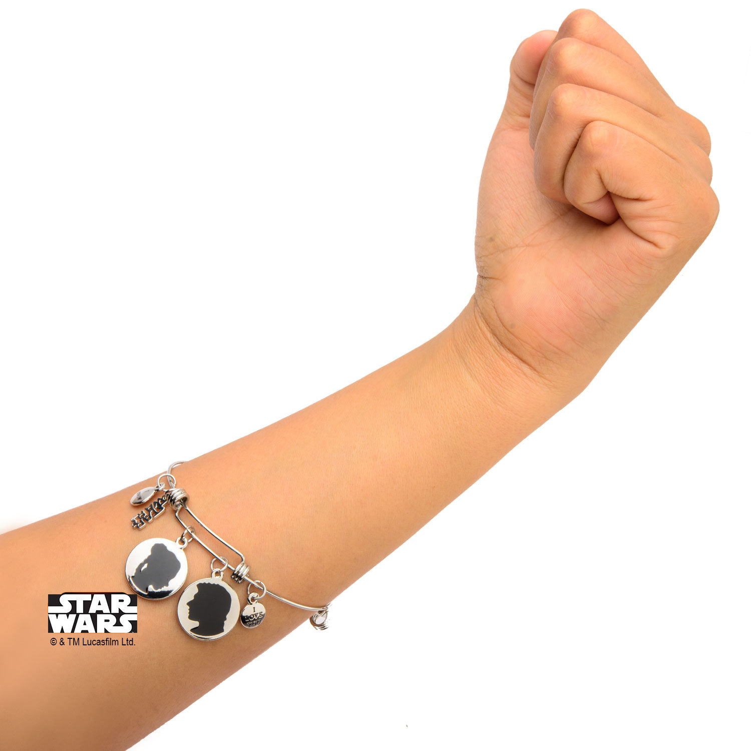 Star Wars Han & Leia Stainless Steel Expandable Bracelet image