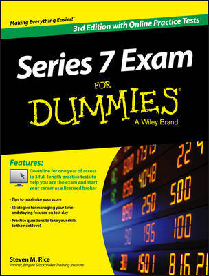Series 7 Exam For Dummies, with Online Practice Tests by Steven M Rice