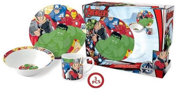 Marvel Avengers Porcelain Gift Set (3pc)