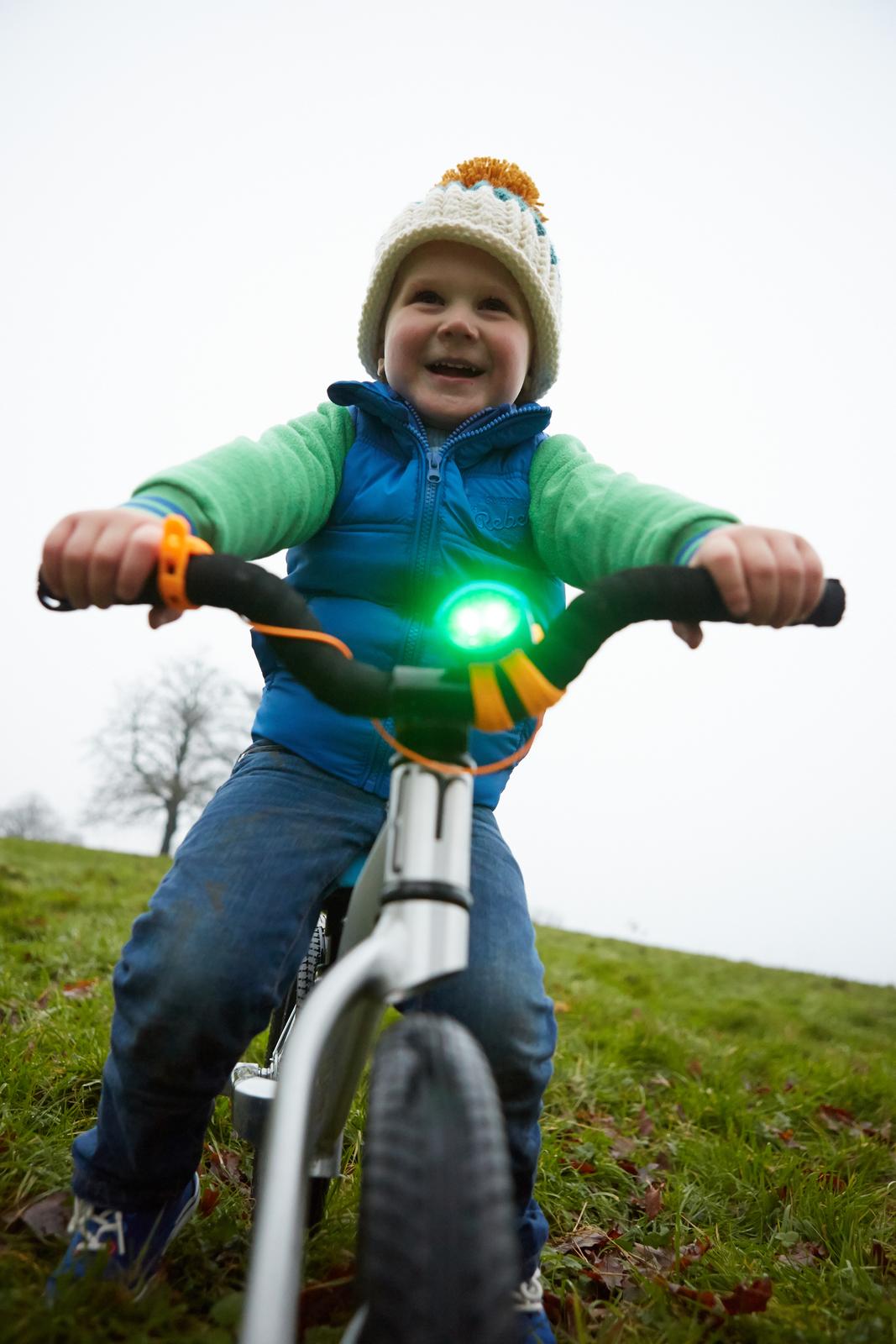 Mini Hornit Electronic Bike Bell & Light (Black/Yellow) image