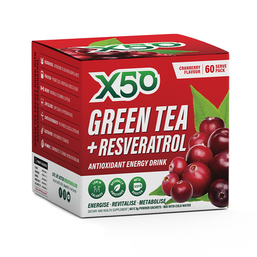 Green Tea X50 + Resveratrol - Cranberry (60 Sachets ) image