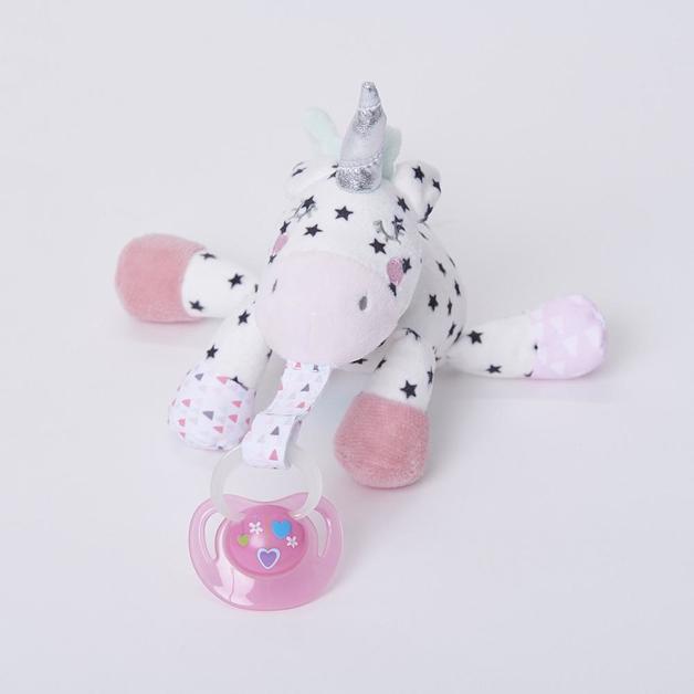 Bubble Pacifier Holder Buddy - Sparkles The Unicorn