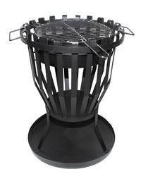 2-in-1 BBQ Brazier with Grill Fire Pit (48x68cm)