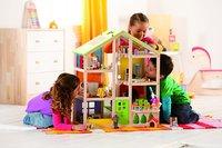 Hape: All Season Wooden Dolls House - Unfurnished image