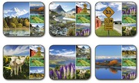 New Zealand Montage Coasters (Set 6)