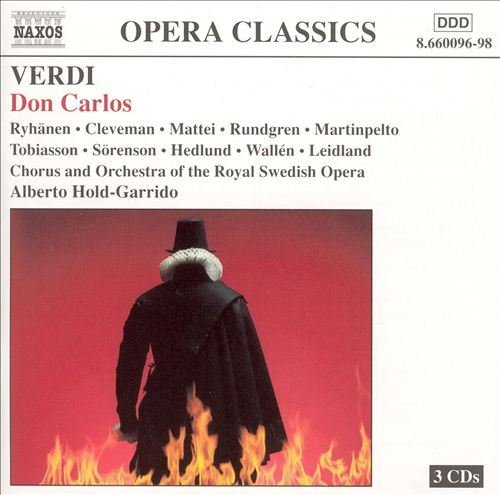 Don Carlos (3 Disc Set) by Giuseppe Verdi