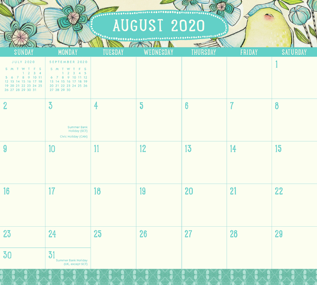 Orange Circle Studio: Magnetic Monthly Pad 2021 - Where Love Grows