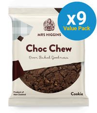 Mrs Higgins: Choc Chew Cookie 100g (9 Pack)