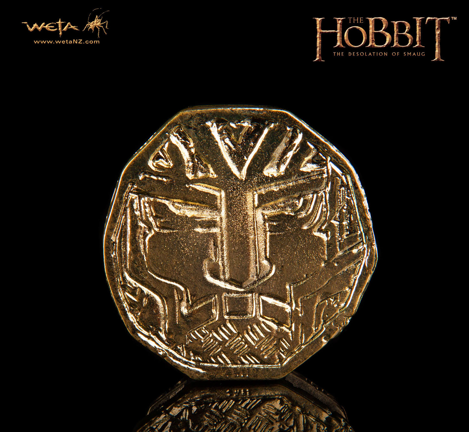 The Hobbit: Desolation of Smaug Treasure Coin #1 - by Weta image