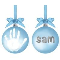 Pearhead: Babyprints Ball Ornament - Blue