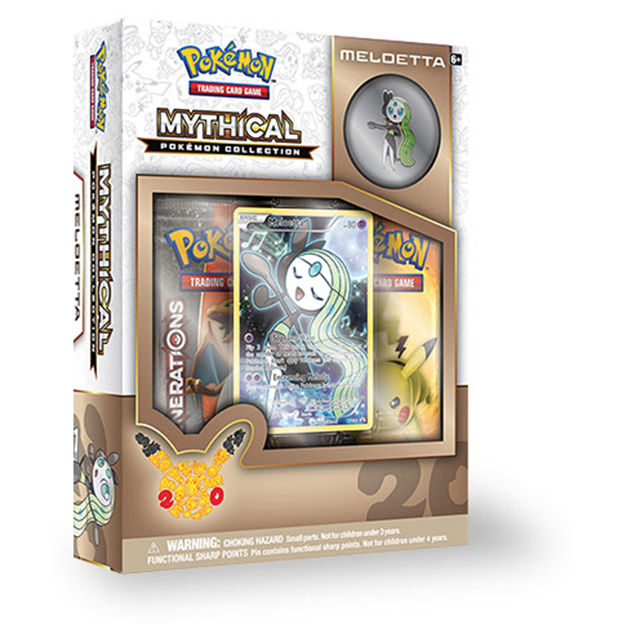 Pokemon TCG Mythical Pokemon Collection Meloetta Pin Box image