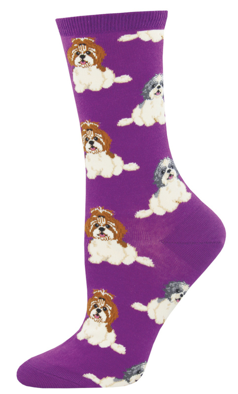 Socksmith: Women's I Shih Tzu Not Crew Socks - Purple