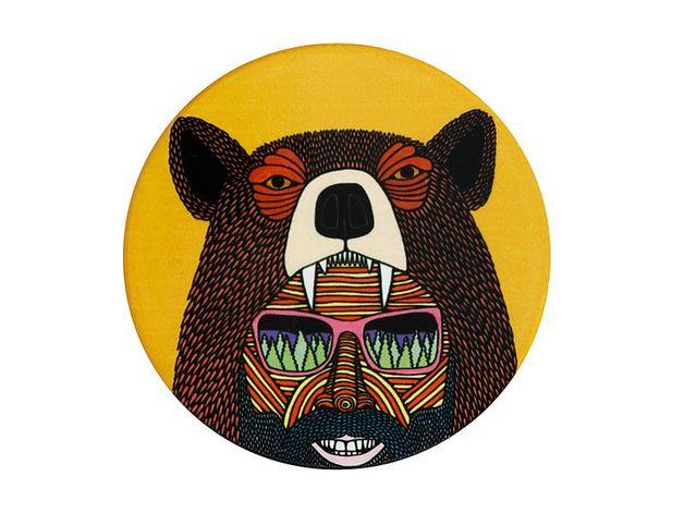 Maxwell & Williams: Mulga the Artist Ceramic Round Coaster - Bear Man