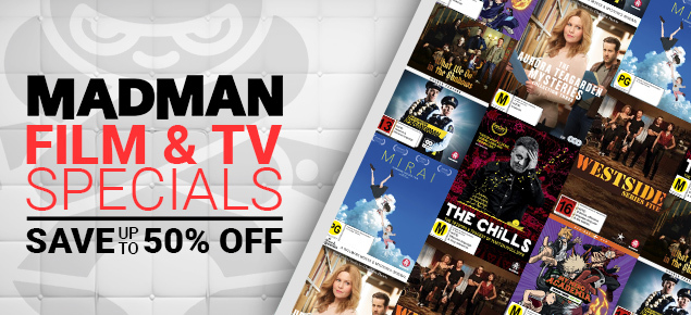 Madman Entertainment Film & TV Specials - Up to 50% off!