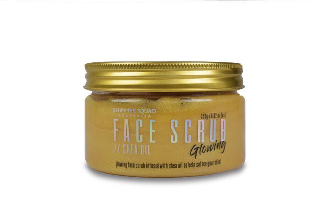 Shimmer Squad Face Scrub Clear Gel - Gold (250g)