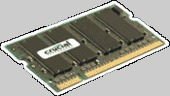 Crucial 25 Pack Rendition 512MB; 200-pin SODIMM; DDR  PC3200; NON-ECC