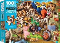 Hinkler: 100-Piece Fuzzy Jigsaw Puzzle - Animals