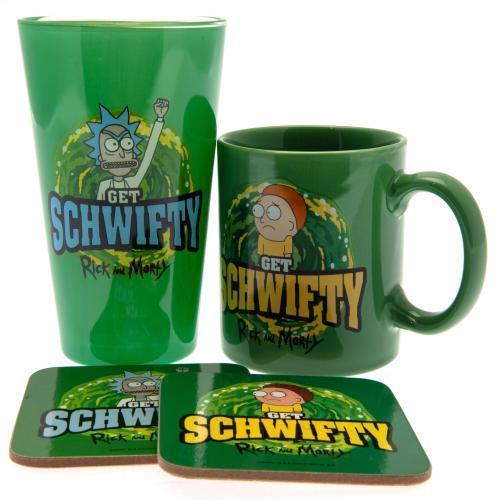Rick and Morty: Get Schwifty (Mug & Glass & 2 Coasters)