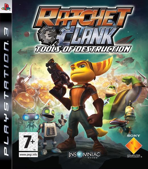 PlayStation 3 Console with Ratchet & Clank : Tools of Destruction Platinum/Uncharted: Drakes Fortune Platinum for PS3 image