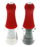 """Skittle"" Soft Touch Mini Salt and Pepper Mill Set - Red"