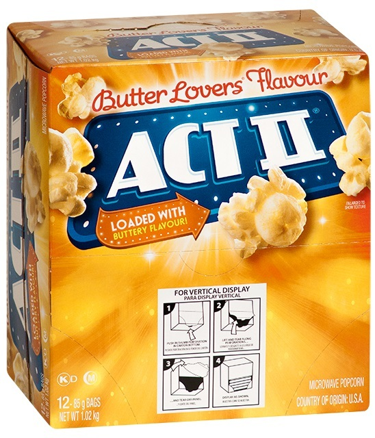 ACT II: Butter Lovers Microwave Popcorn 85g (12 Pack)