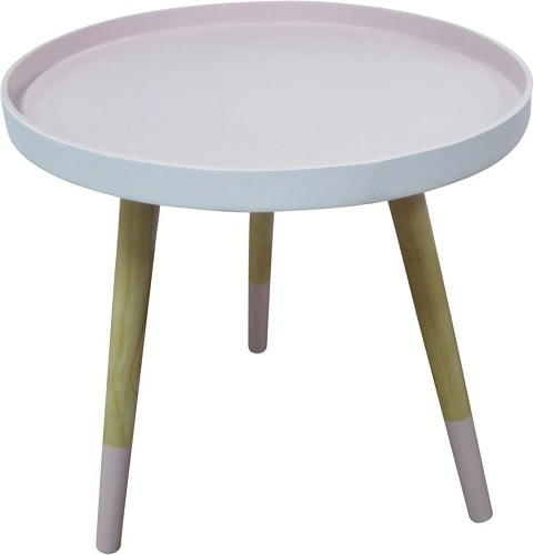 Round Side Table   Small (Powder Pink)
