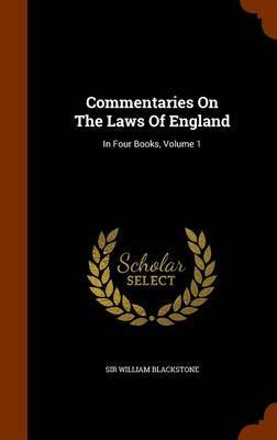 Commentaries on the Laws of England by Sir William Blackstone image