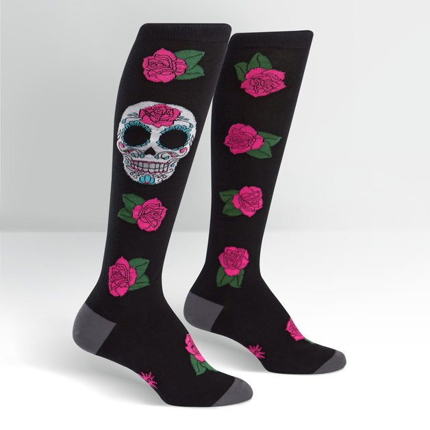 SOCK it to Me: Womens - Sugar Skull Knee Socks