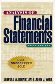 Analysis of Financial Statements by Leopold A. Bernstein