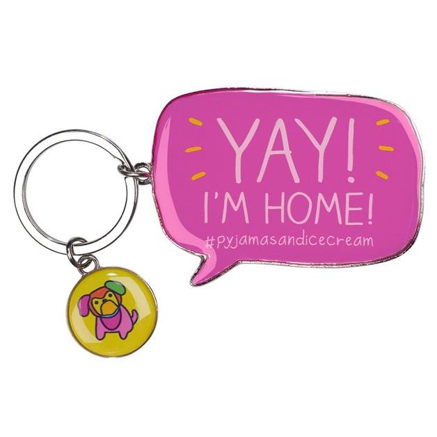 Happy Jackson Yay I'm Home Keyring