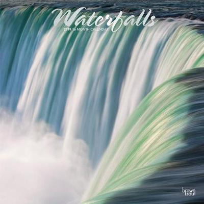 Waterfalls 2019 Square Wall Calendar by Inc Browntrout Publishers