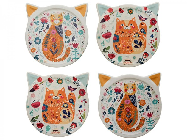 LaVida: Cat Coasters - Folksy