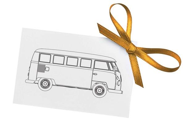 """Corgi: 1/43 VW Camper """"Congratulations"""""""
