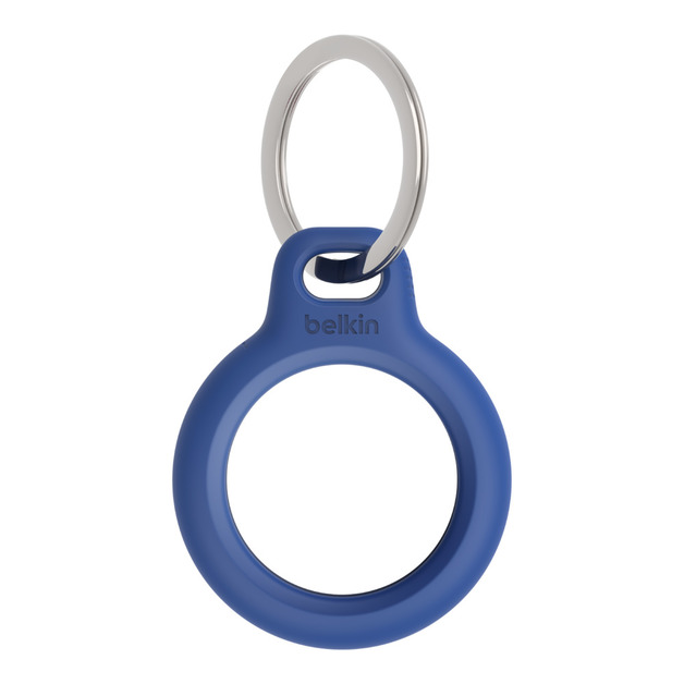 Airtag Secure Holder with Keyring - Blue
