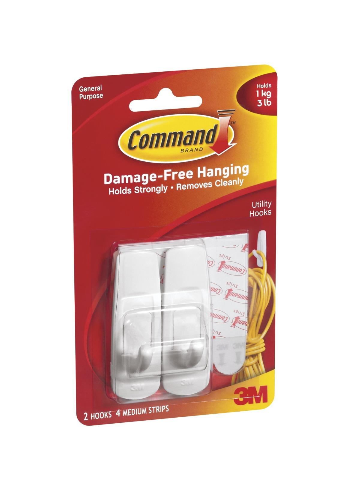 Command Medium Hooks - White (2 Pack) image