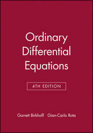 Ordinary Differential Equations by Garrett Birkhoff image