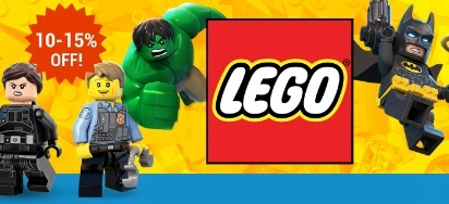 10-15% off LEGO sets!