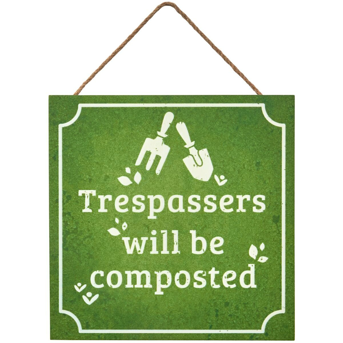 Transomnia: 'Trespassers will be composted' Sign image