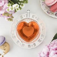 Pinky Up: Kendall Double Walled - Glass Tea Mug (Heart)