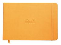 Webnotebook Landscape A5 Plain (Orange)