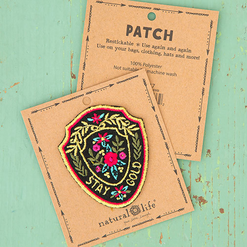 Natural Life: Restickable Patch Fabric - Stay Gold