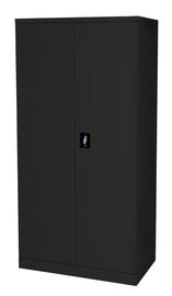 Proceed Steel Cupboard 3 Shelf - W900mm x D500mm x H1800mm (Matte Black)
