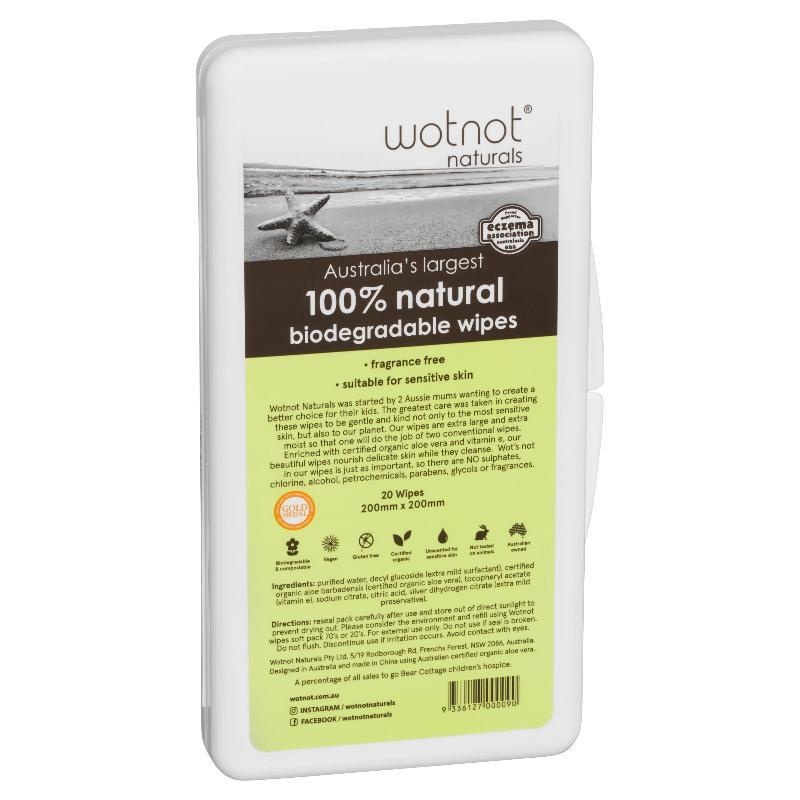 Wotnot Travel Baby Wipes with Hard Case Pack of 20 image