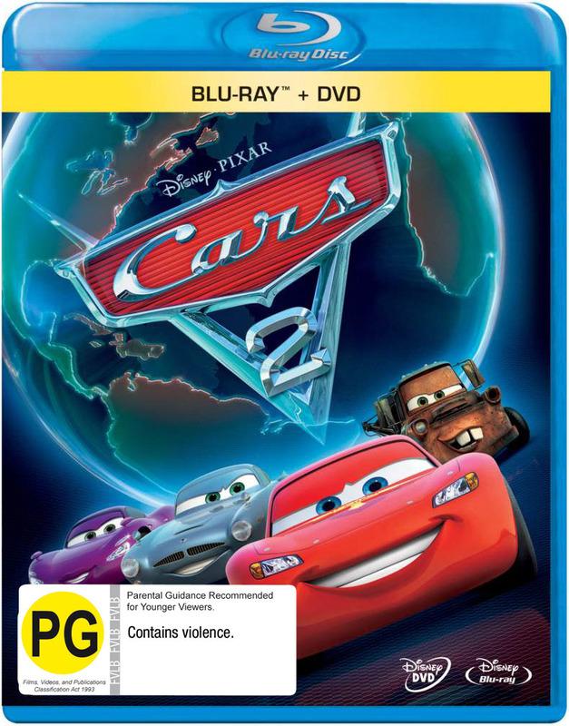 Cars 2 on DVD, Blu-ray