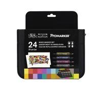 Winsor & Newton Brushmarker Mixed Marker Set 24 Wallet Set